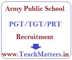 image : Army Public School PGT/TGT/PRT Recruitment 2016-17 @ TeachMatters