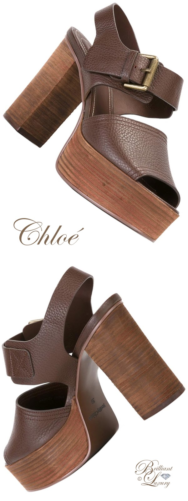 Brilliant Luxury ♦ See by Chloé Stacked Platform Sole Sandals
