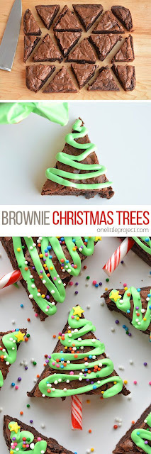 This Easy Christmas Tree Brownies Recipe