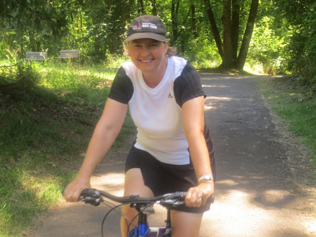 Lyn on a cycle path