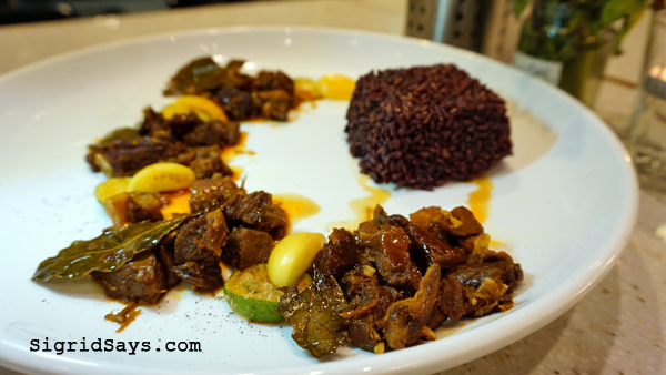 Farm to Table - Iloilo restaurant - lamb adobo