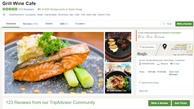 Number 1 Restaurant in Siem Reap Position on Tripadvisor