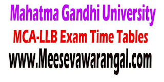 Mahatma Gandhi University Nalgonda MCA 2nd Sem LLB 1st Sem July 2016 Exam Time Tables
