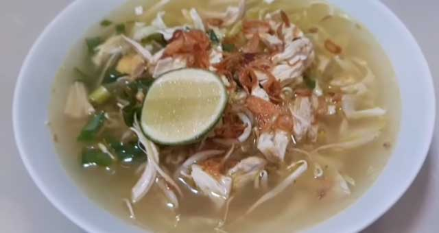 resep soto ayam kuah bening