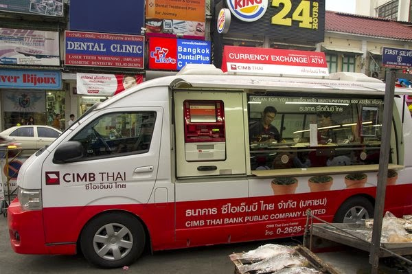 Банк в микроавтобусе Таиланд