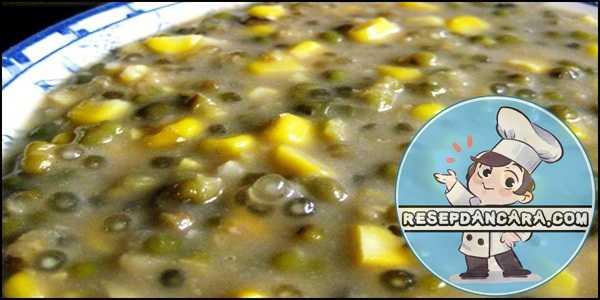 Resep dan Cara Membuat Bubur Kacang Ijo Campur Durian yang Enak