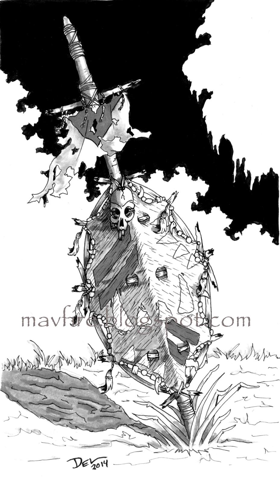Del Teigeler's Art Blog: Orc Zulu Shield