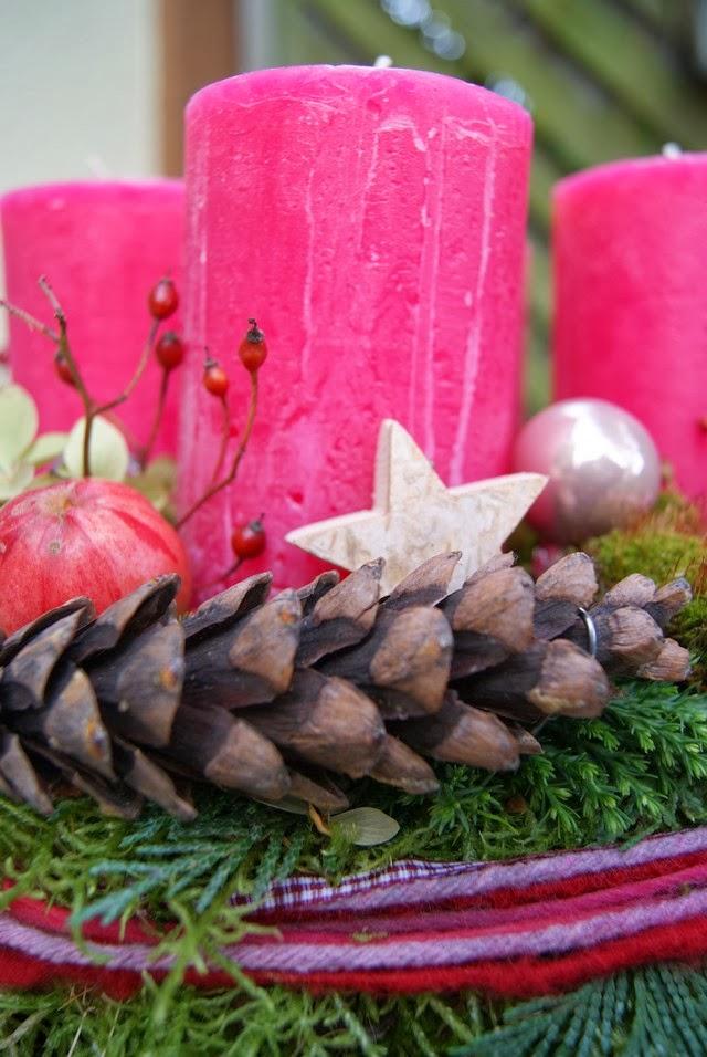 Filz Und Garten Gartenblog Der Adventskranz 2013 Ist Pink