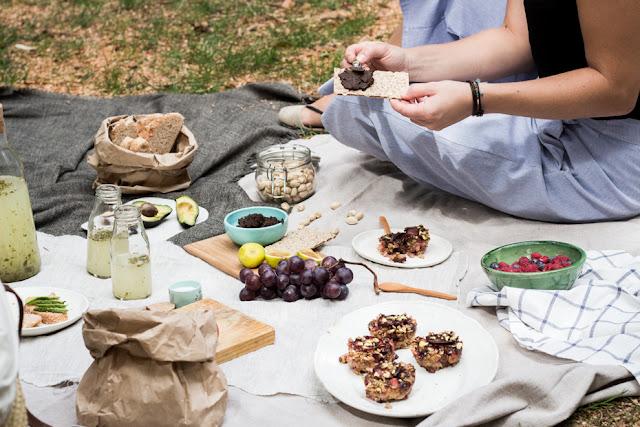 picnic en el retiro. recetas veganas de verano