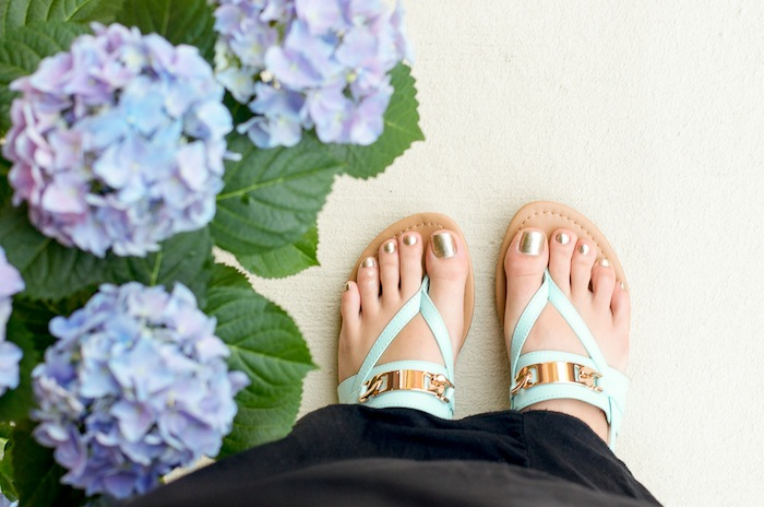 Light Blue Sandals