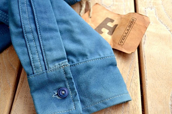 e7e7e86af04 LIFE TIME GEAR  LIMITED INDIGO DYED 8 OZ. CLAMPDOWN SHIRT