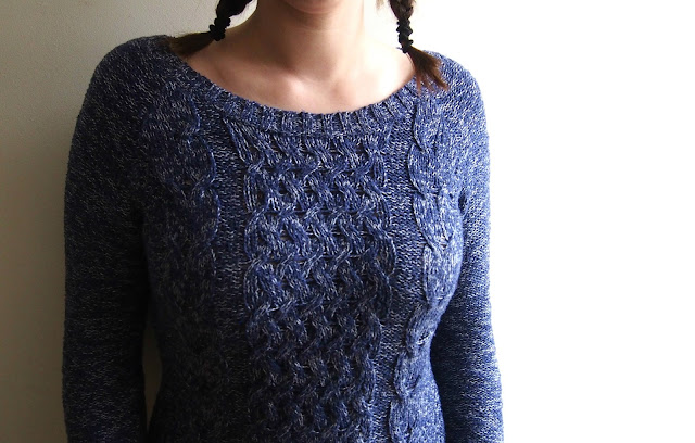 Navy blue and white jumper