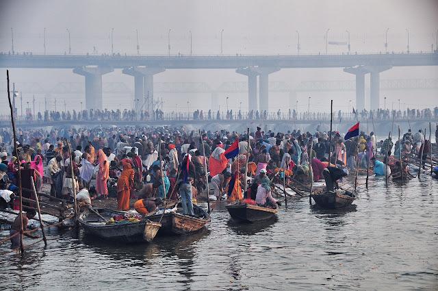 Kumbh mela 2013 ganga allahabad bathing ghat