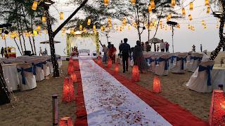 kerala beach wedding decor