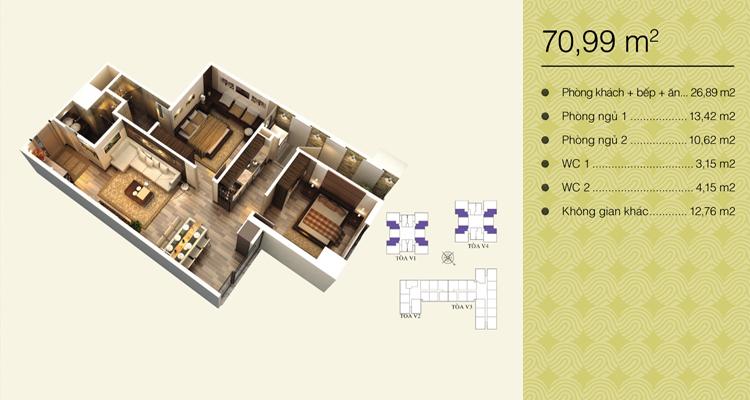 Home City Trung Kính - căn 90,99 m2