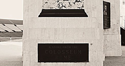 los angeles memorial coliseum rome stone