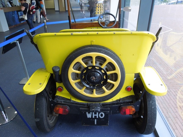 Doctor Who yellow Bessie roadster