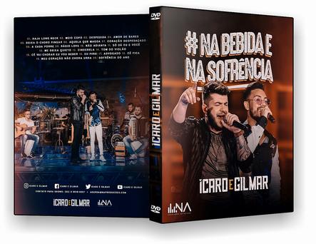 CAPA DVD – Ícaro & Gilmar Na Bebida E Na Sofrência – DVD-R