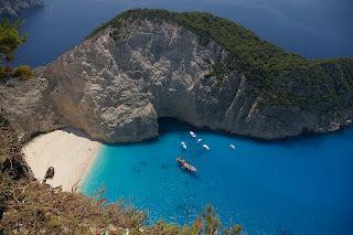 blue lagoon in zante