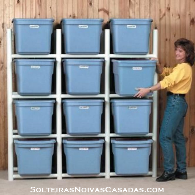 Constru o e decora o inspira o com canos de pvc - Better homes and gardens storage containers ...