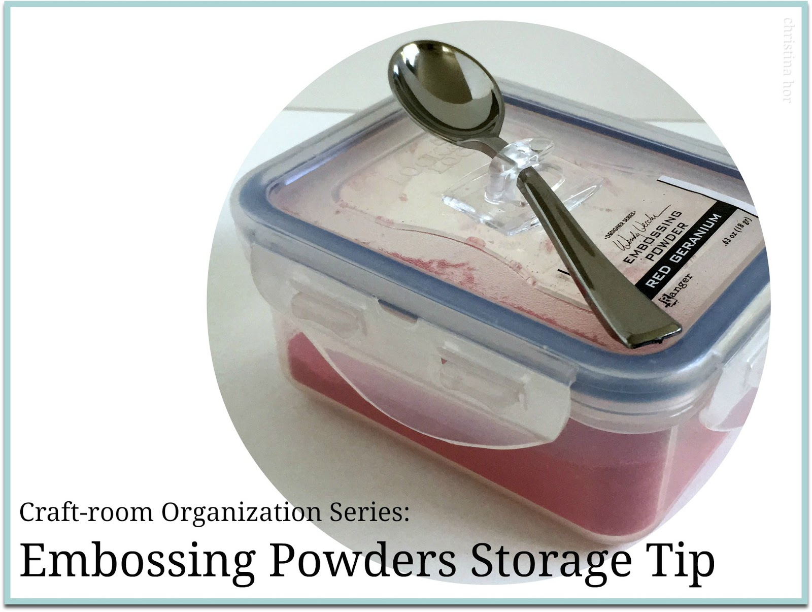 embossing powder storage