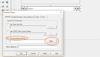 pilih Use Connection String dan klik Build untuk menghubungkan ke database