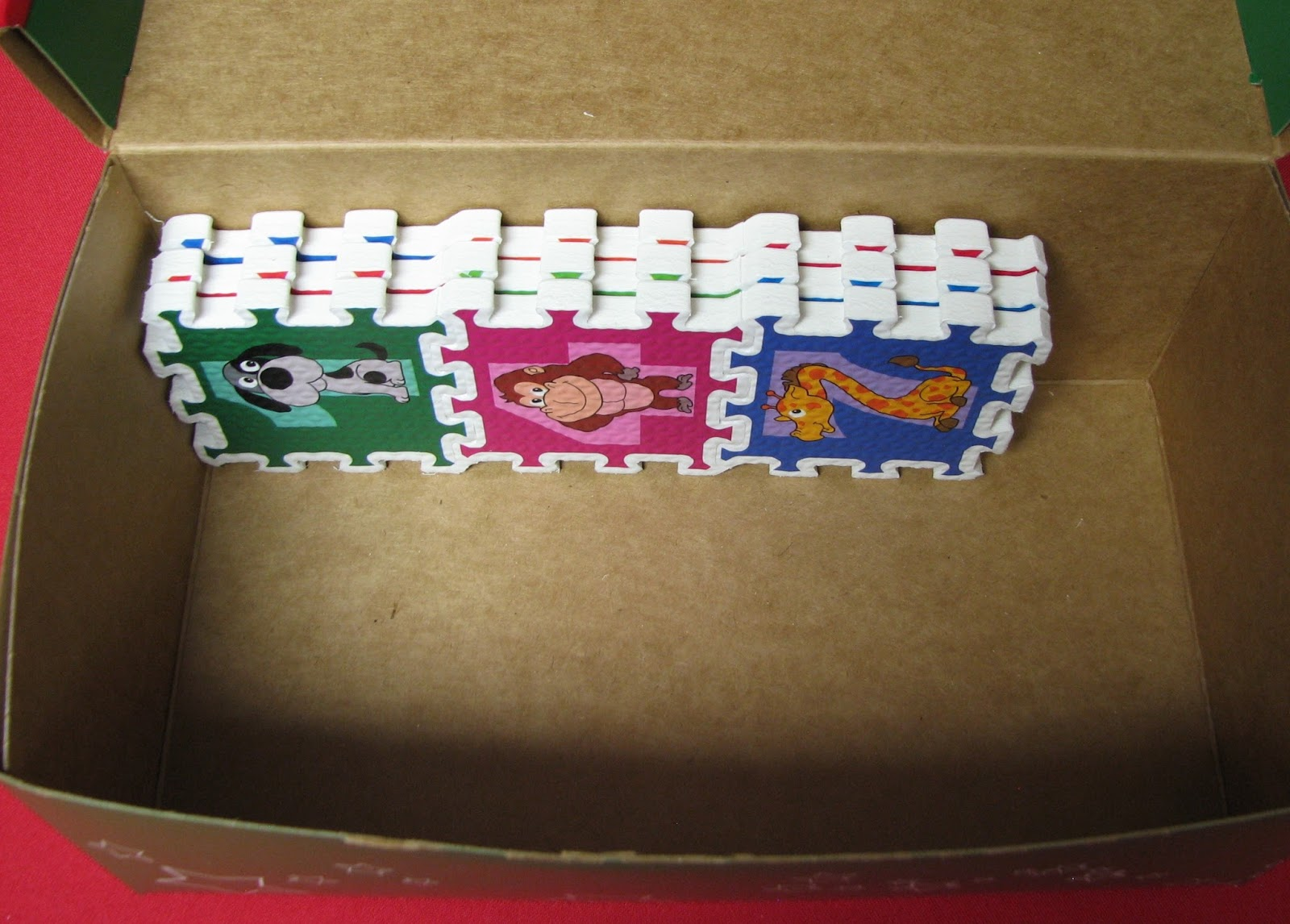 Simply Shoeboxes Fitting A Puzzle In An Occ Go Shoebox