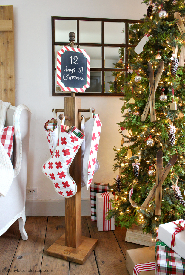 That S My Letter Diy Stocking Post