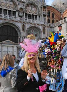Pat Dunlap Mask St. Mark's Square Venice Italy