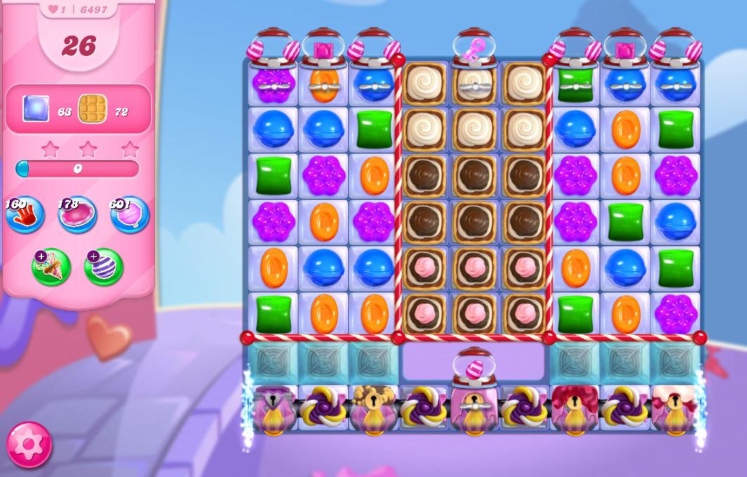 Candy Crush Saga level 6497