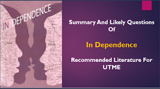 In Dependence: 94 JAMB Likely Questions Chapter by Chapter