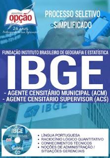 Apostila Concurso IBGE Agente Censitário Municipal e Supervisor