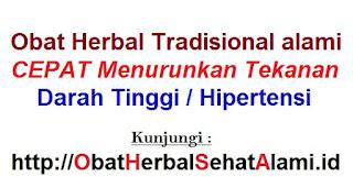 Cara alami mengobati-menurunkan darah tinggi dengan herbal tardisional