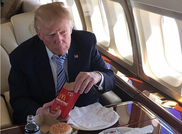 President Donald Trump Eating McDonald's Fries