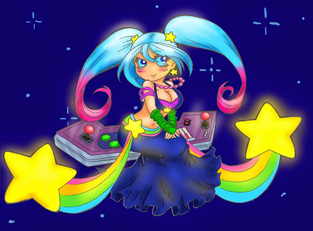 sona dj chibi cartoon