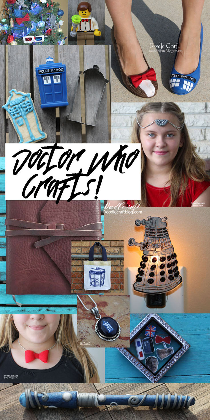 doodlecraft doctor who crafts party favors jewelry and gift ideas