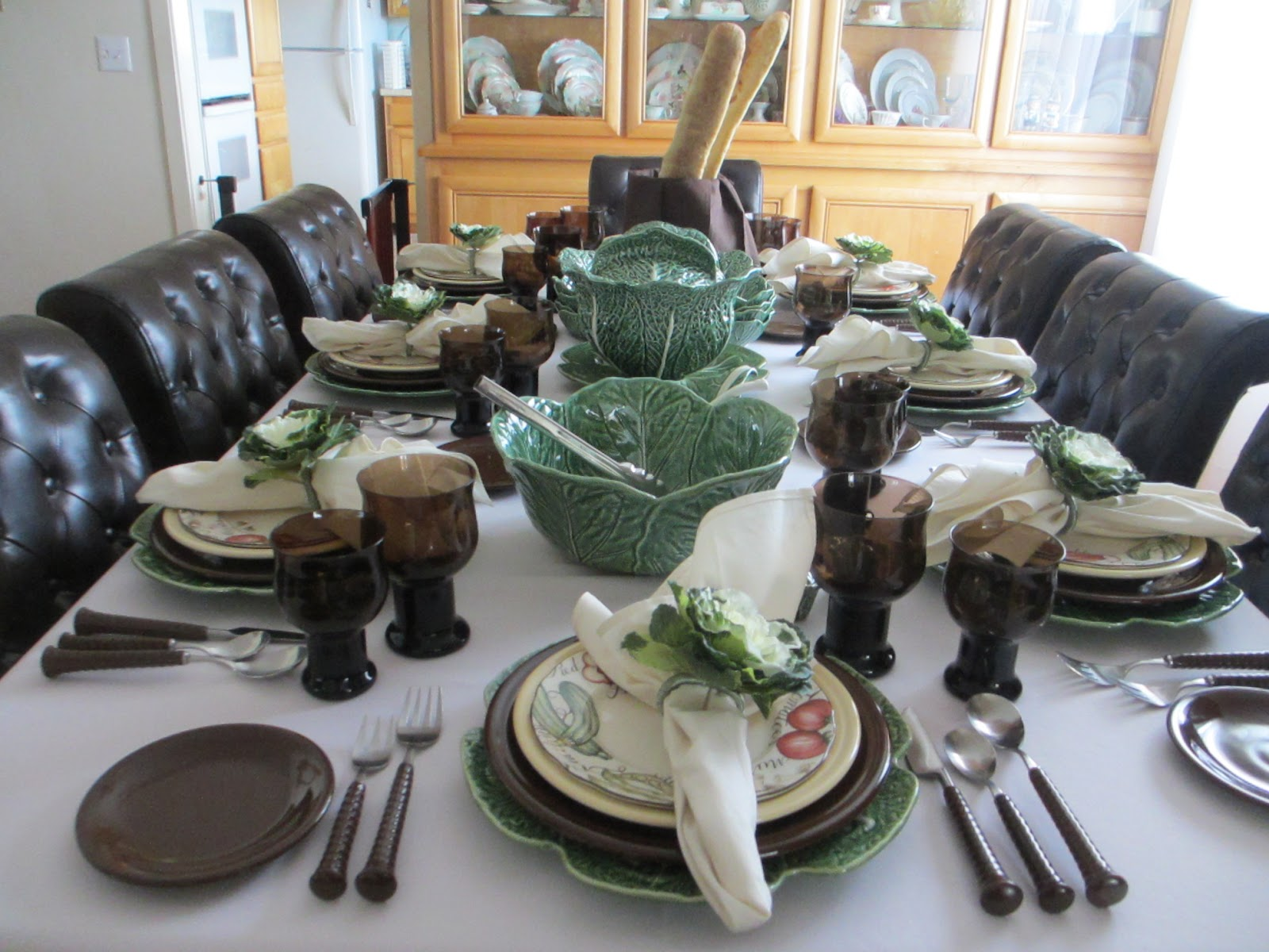 The Welcomed Guest Fiesta Ware And Bordallo Cabbage Table