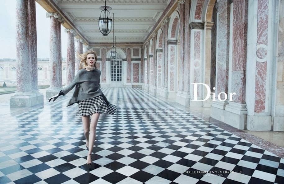 Dior campaign at Chateau de Versailles