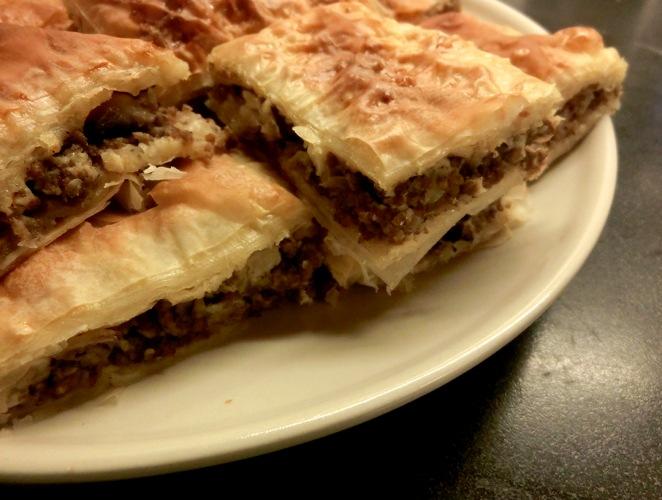 Libyan Food Filo Pastry Meat Pie Bureek Tajin رقاق