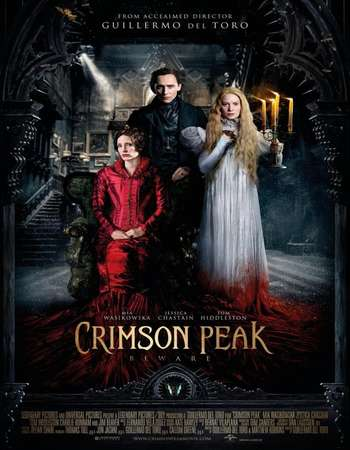 Poster Of Crimson Peak 2015 Dual Audio 350MB BRRip 480p Free Download Watch Online