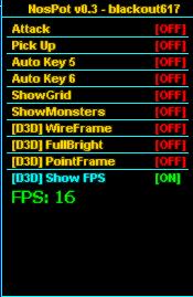 xA470v Nostale Hileleri NosPot v0.3 D3D Menü Oyun Botu indir