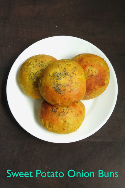 Sweet potato Buns, Khara buns with sweet potato