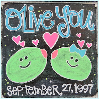 SRM Stickers Blog - ❤{Olive You}❤ by Shannon - #homedecor #sign #chalkboard #markers #fluorescent #DIY