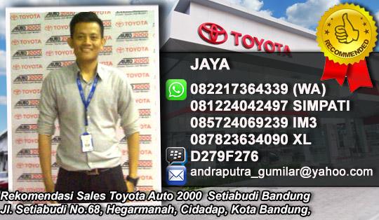 Rekomendasi Sales Toyota Auto 2000 Setiabudi Bandung