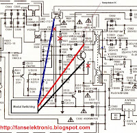 cara pasang gacun astelo televisi regulator transistor