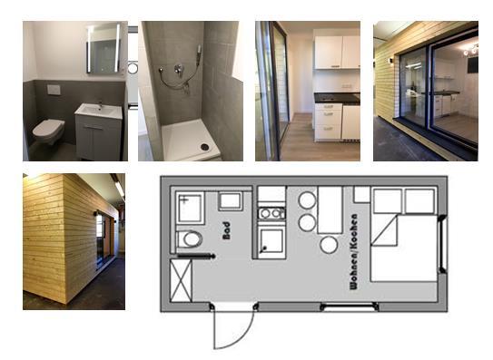 meiselbach mobilheime wohn container in hochwertiger verarbeitung. Black Bedroom Furniture Sets. Home Design Ideas