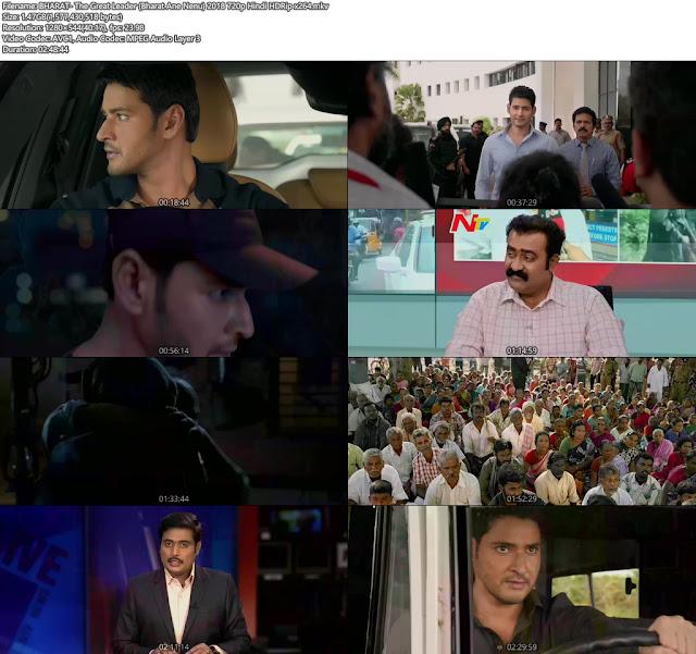 Bharat Ane Nenu 2018 Hindi Dubbed Movie 720p Free Download
