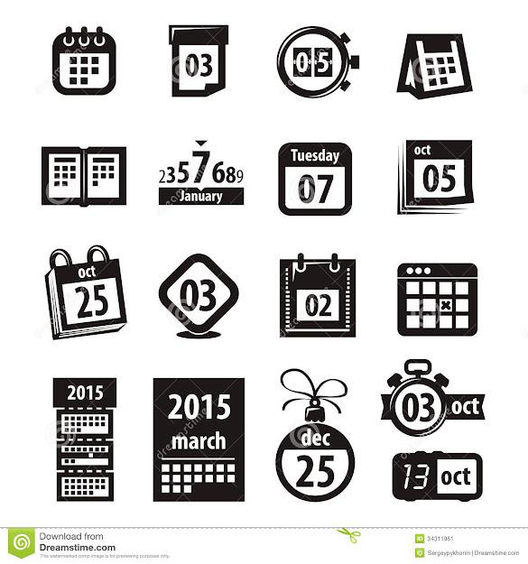 Calendar Icons Vector Format