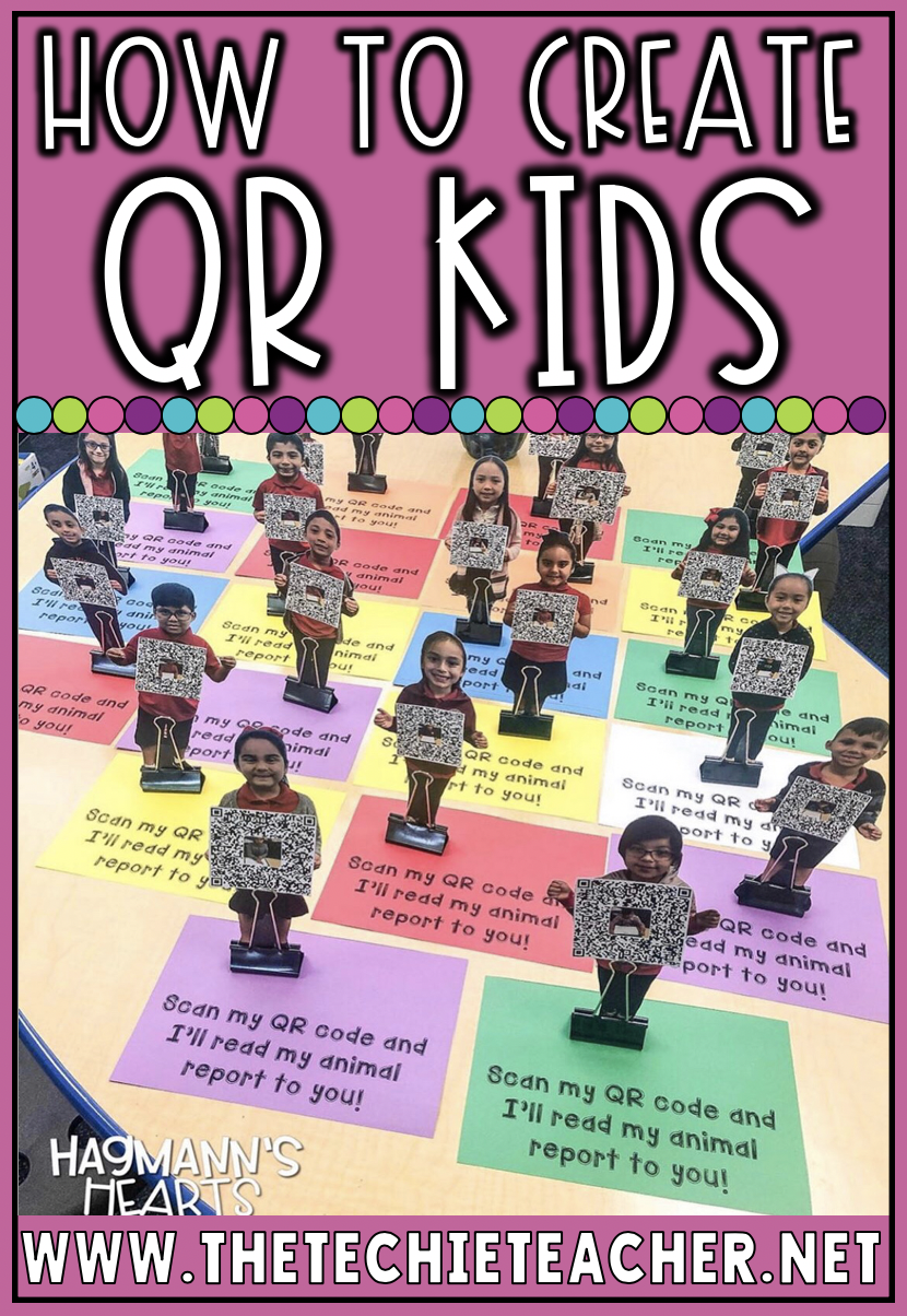 How to Create QR Kids: This project makes an adorable keepsake! Students can create a video or audio recording to link to a QR code.  This particular post contains directions for how this can be completed using Seesaw.
