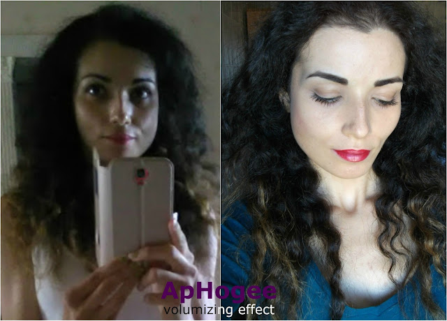 valentina Chirico testing ApHogee hair care for damaged hair. Volumizing effect